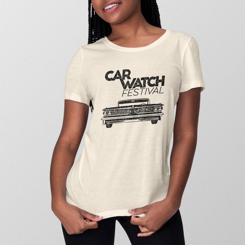 Car Watch Shirt (women), vintage white 1