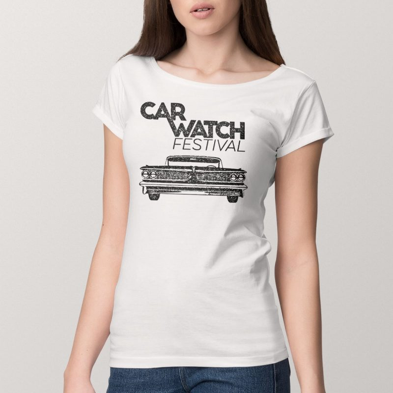 Car Watch Shirt (women), wide neck, white 8