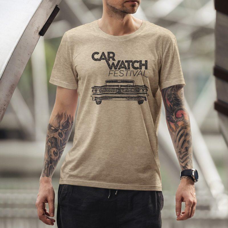 Car Watch Shirt, unisex, heather light brown 6