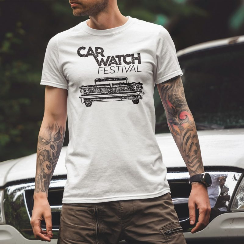 Car Watch Shirt, unisex, white 1