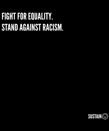 Stand Against Racism Shirt, Unisex, weiß 5