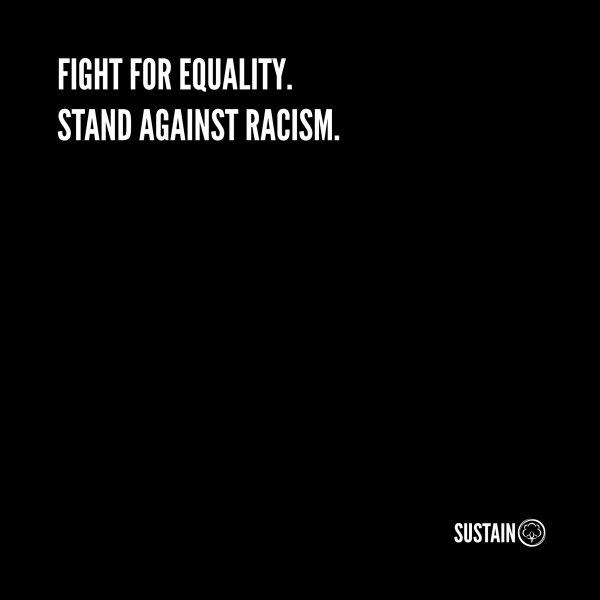Stand Against Racism Shirt, Unisex, weiß 3