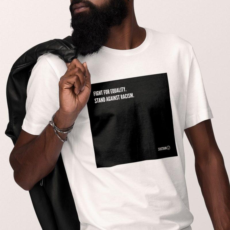 Stand Against Racism Shirt, Unisex, weiß 1