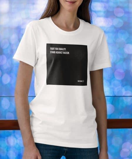 Stand Against Racism Shirt, Unisex, weiß 4