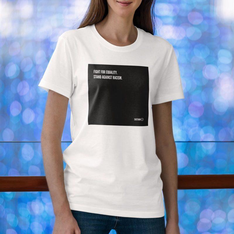 Stand Against Racism Shirt, Unisex, weiß 2