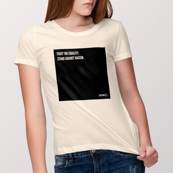 Stand Against Racism Shirt (women), vintage white 1