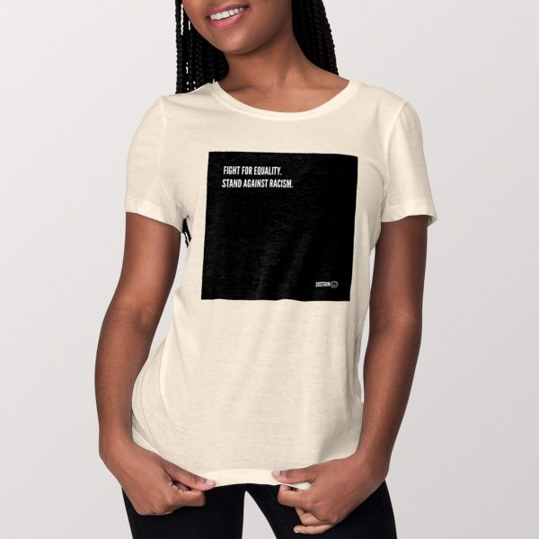 Stand Against Racism Shirt (women), vintage white 2