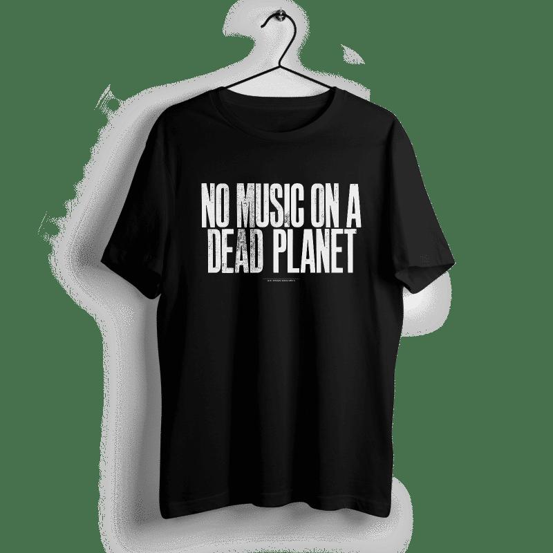 Music Declares Emergency | Anthony Burrill T-Shirt (Schwarz) 1